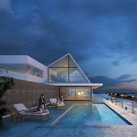 House with swimming pool design