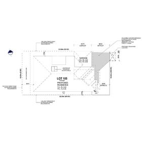Architectural 2D lot drafting