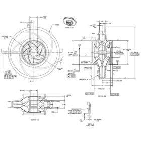 Impeller 2D CAD drawing