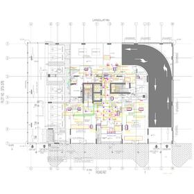 2D house CAD drawing