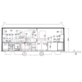 2D CAD food truck drafting