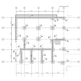 Commercial concrete foundation 2D CAD drawing