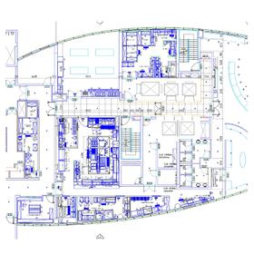 Hotel commercial kitchen 2D CAD drafting