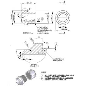 2D to 3D CAD of a machine part