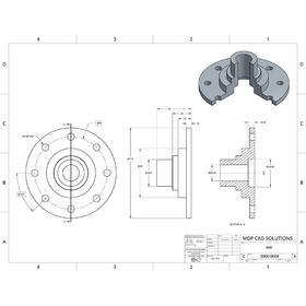 Hub detail 2D to 3D CAD