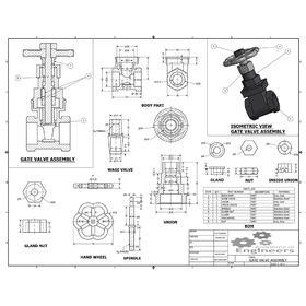 2D to 3D conversion of gate valve