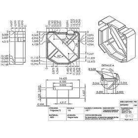Assembly drawing of a machine part