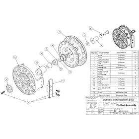 Fly reel assembly drawing