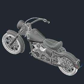 Motorcycle AutoCAD conversion