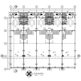 Floor plan AutoCAD drawing