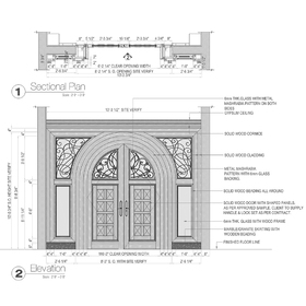 Main entrance door AutoCAD drawing