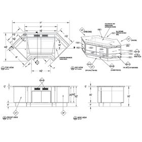 Salsa bar cold pan unit AutoCAD drawing