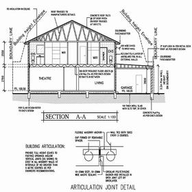 Log cabin AutoCAD drawing