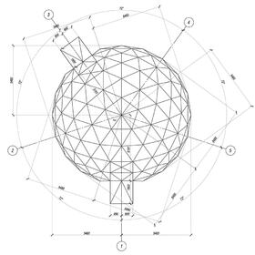 Steel dome CAD design