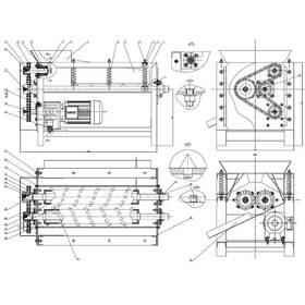 Coconut dehusking machine CAD drafting