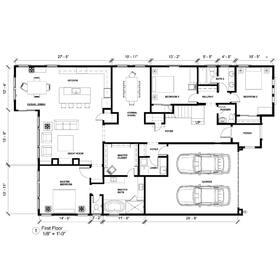 Residential CAD floor plan drawing