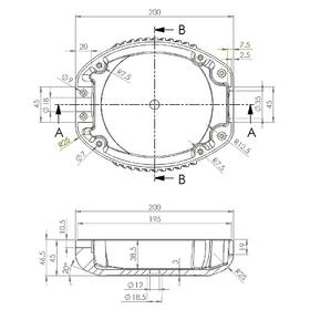 Casing CAD drawing