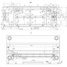 Explosion-proof electric motor CAD drawing