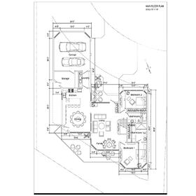 Two-storey house main floor CAD drawing
