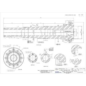 Lathe spidle CAD drawing