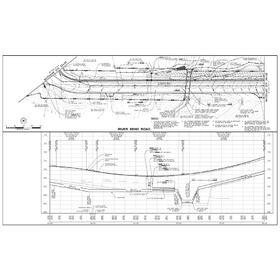 Road reconstruction CAD drawing