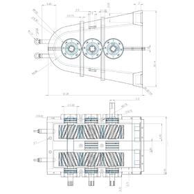 Gear box CAD drawing