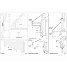 House detailing CAD drawing
