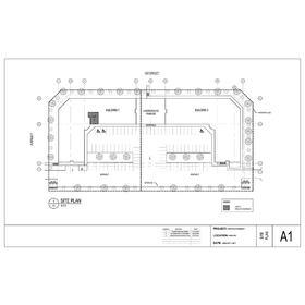 New pharmacy site plan civil drawing