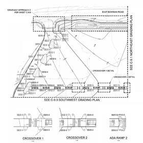 Commercial center grading plan civil drafting