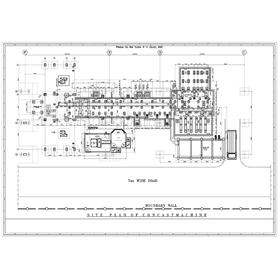 Industrial project civil drawing