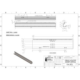 Sheet metal drive holder