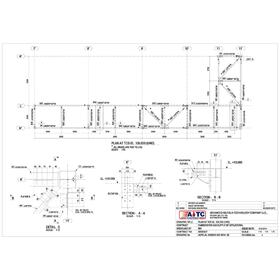 Structural steel fabrication drawing