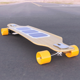 Solar electric longboard design