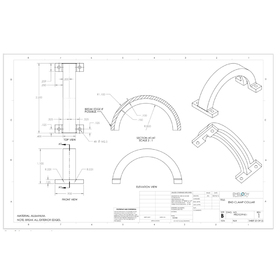Clamp collar CAD drafting
