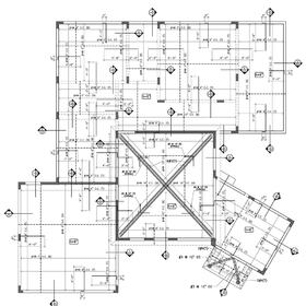 Reinforced concrete block house roof plan