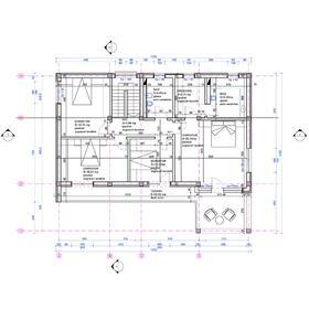 Villa architectural CAD plan