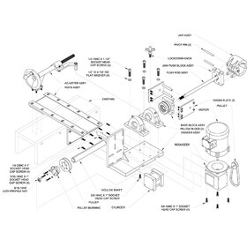 Exploded drawing of large machine assy