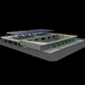 Pumping structure conceptual design