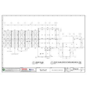 Roof slab plan PDF to CAD