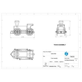 Miniature train assembly