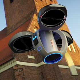 Drone design concept to purify air