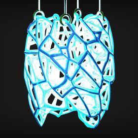 3D printed hanging lampshade