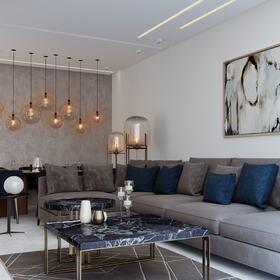 2D living room visualization