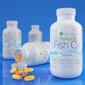 Fish oil supplement package design