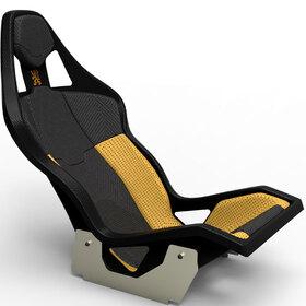 Carbon fiber bucket seat