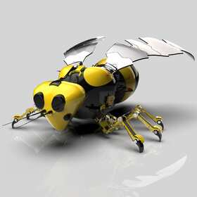 Mechanical bee CATIA design
