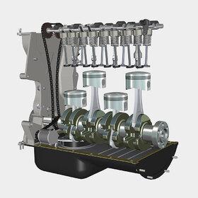 4-cylinder petrol engine
