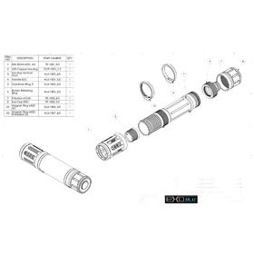 Tactical flashlight manufacturing design