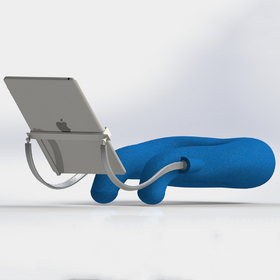 Neck pillow with tablet and iPhone holder