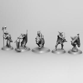 Goblin family board game fugurines